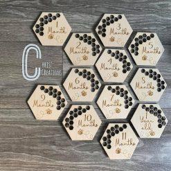 Baby milestones bee design