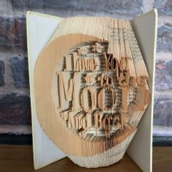 Love You To The Moon And Back Folded Book Art