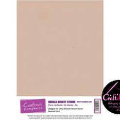 Crafter's Companion - Neenah Desert Storm - Kraft Colouring Card - A4 - 216gsm - 20 Sheets