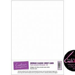 Crafter's Companion - Neenah Classic Crest Card - Solar White - A4 - 216gsm - 20 Sheets