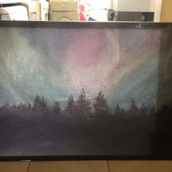 Northern Lights 120x80 Canvas Print