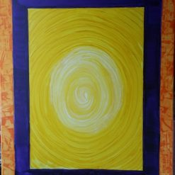 BOXED IN – 18 x 24 INCH ABSTRACT PAINTING ON CANVAS (ORIGINAL ART DIRECT)