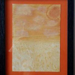 FIELD OF PLENTY – FRAMED LANDSCAPE + CHOICE OF COLOUR & SEPARATE POEM – ORIGINAL ART DIRECT