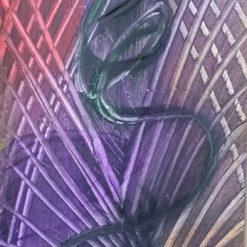 GEOMETRIC SWIRL A5 ORIGINAL ABSTRACT ON 300g WATERCOLOUR PAPER + POEM (ORIGINAL ART DIRECT)