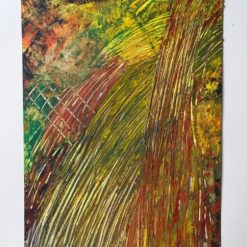 LAYERS & LINES – FRAMED ABSTRACT WATERCOLOUR PAINTING – CHOICE OF MOUNT COLOUR ORIGINAL ART DIRECT