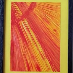 A NEW BROOM – FRAMED ABSTRACT + SEPARATE POEM – SUNSHINE – COLOUR CHOICE – ORIGINAL ART DIRECT