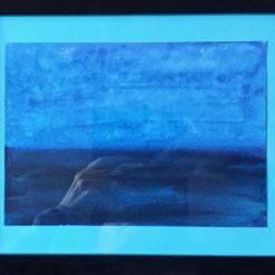 A STORM IS BREWING – ORIGINAL FRAMED WATERCOLOUR PAINTING – ORIGINAL ART DIRECT. SALE.