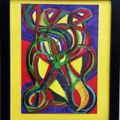 THE NEWTONIAN DELUSION – ABSTRACT ART – CHOICE OF MOUNT COLOUR + POEM – FRAMED – ORIGINAL ART DIRECT