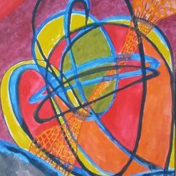 TIME WARP – UNFRAMED A4 PRINT OF MY ORIGINAL PAINTING + POEM – ORIGINAL ART DIRECT