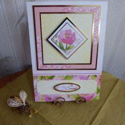 Pink Flower Get Well Soon Card