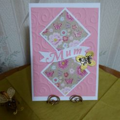 Z: Pink Flower Mothers Day Card