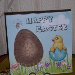 Easter Card - Chocolate Egg & Chick with gift wallet