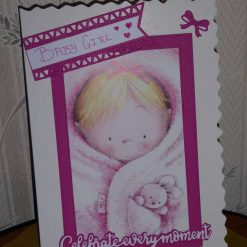 Baby Girl Card - Celebrate Every Moment