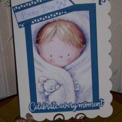Z: sold Baby Boy Card - Celebrate Every Moment