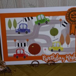 Birthday Card, Road Map and Cars