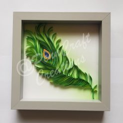 Hand Quilled Peacock Feather