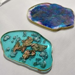 Resin Agate Coasters
