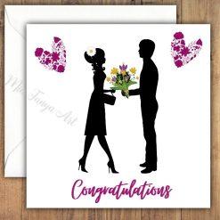 Engagement, Anniversary, Wedding Greeting Card