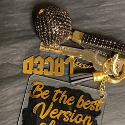 """""""Be the best version of you"""" large  keyring"""