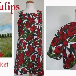 Red Tulips, Dress & Jacket by SerendipityGDDs, For Age 7