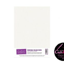 Crafter's Companion - Printable Vellum Paper - A4 - 100gsm - 15 Sheets