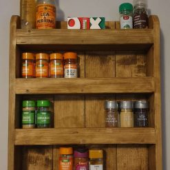 Wooden Rustic/Distressed Spice Rack
