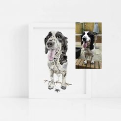 Custom Watercolour Pet Portrait Painting from Photo a4