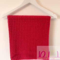Bright Pink crocheted blanket