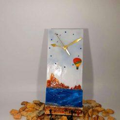 Coastal Breeze Glass Clock