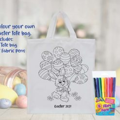 Colour Your Own Easter Tote Bag/ Children's Easter Activity/ Personalised