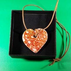 Confetti Glass Heart Necklace