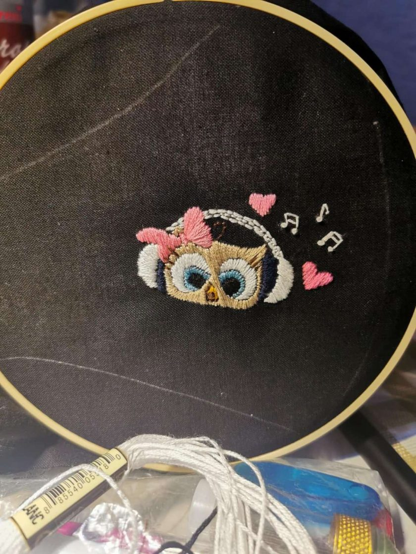 Face mask - cute owl