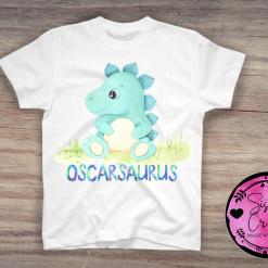 Personalised Dinosaur T-shirt, boys,