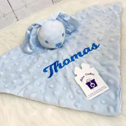 Bobble Baby Bunny Comforter / new baby/ baby gift/ personalised/ embroidery/ pink/ blue/ white/ grey/ bunny/ rabbit