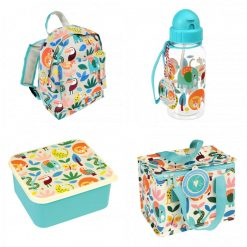 Lunch Set with Matching Mini Backpack/ back to school/ personalised/ embroidery/ patterns/ animals/ bag/ lunch box 1
