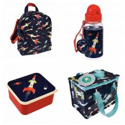 Lunch Set with Matching Mini Backpack/ back to school/ personalised/ embroidery/ patterns/ animals/ bag/ lunch box 2