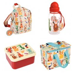 Lunch Set with Matching Mini Backpack/ back to school/ personalised/ embroidery/ patterns/ animals/ bag/ lunch box 6