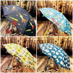 Children's Umbrella/ back to school/ personalised/ embroidery/ patterns/ animals/ brolly/ kids umbrella/ coordinating items lunch sets mini backpack