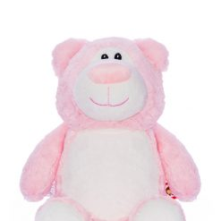 Cubbyford Baby Pink Bear/ personalised/ cuddly toy/ teddy/ embroidery