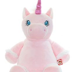 Starflower Pink Unicorn/ personalised/ cuddly toy/ embroidery/ mythical creature
