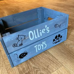 Personalised Wooden CAT Crate