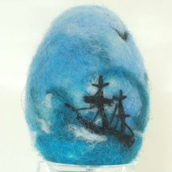 Needle Felted Decorative Violets Easter Eggs