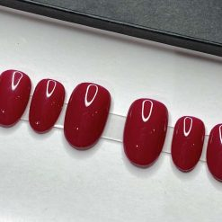 """""""Berry Red"""" Press on Nails"""
