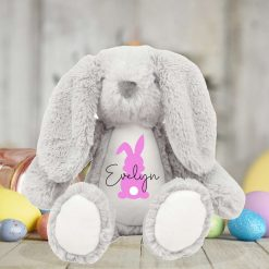 Personalised Easter Bunny Teddy, My First Easter, Soft Toy, Plush, Your Name, Custom, Girls and Boys