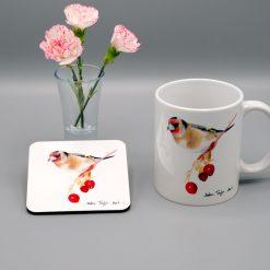 Goldfinch Mug and Coaster Set