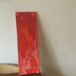 Spring orange and pink acrylic art