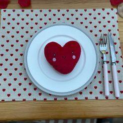 Heart Linen Placemat, Placemats