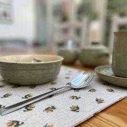 Bumblebee Linen Placemat, Placemats