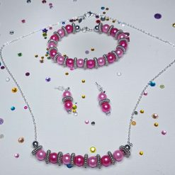 Bead Earring, Bracelet and Necklace Set S3-6
