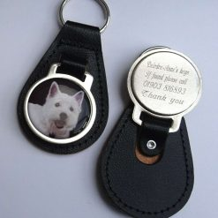 Personalised West Highland Terrier keyring with free engraving and free post to UK
